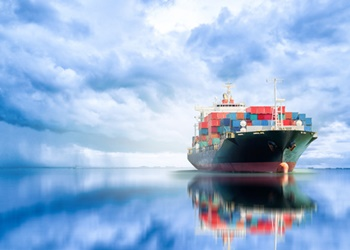 International Container Cargo ship in the ocean, Freight Transpo
